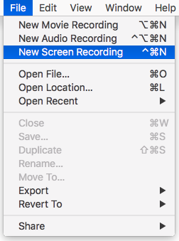 New Screen Recording